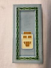 Jugendstil Fliese Kachel Antik Mügeln 7,5 x 15,1 cm