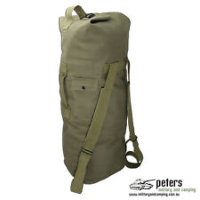DUFFLE BAG WITH SHOULDER STRAPS COTTON CANVAS MATERIAL OLIVE DRAB