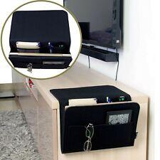 Bedside organizer. Large. Black. Laptop/Accessories holder. Handmade.