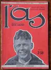 TRÈS RARE N° 4 DE L'AS. SPORTS. GÉO ANDRÉ. LINDBERGH. JUIN 1927. AVIATION. AVION