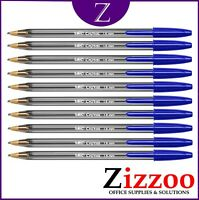 10 BIC CRISTAL PENS LARGE 1.6MM BLUE 880656 GENUINE