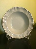 """1 Pottery Barn Sage Green France Pasta Soup Bowl Plates 9.5"""" Scalloped Embossed"""