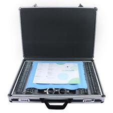 266 pcs Optical Trial Lens Set Optometry Kit Metal Rim Aluminum Case Trial Frame
