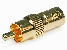 BNC Female To RCA Phono Male Adapter Convertor Gold