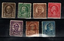 United States 1922 Heads selection to 5c  Used
