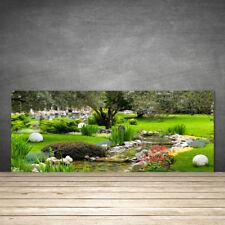 Küchenrückwand aus Glas ESG Spritzschutz 125x50cm Garten Natur