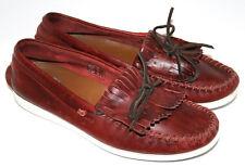 6b7156aca16 PAUL SMITH Ripley Fringed Deck Shoe Loafers Burgundy Leather UK8.5 EU43  RRP £