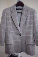 Ellen Tracy Wool, Silk & Cashmere Blend Multi-Colored 3/4 Sleeve Blazer Size 12P