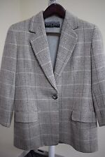 Ellen Tracy Wool, Silk & Cashmere Blend Multi-Colored 3/4 Sleeve Blazer Size-12P
