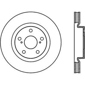 Stoptech 128.44146L Cross Drilled Brake Rotor For 17-18 Toyota Corolla iM NEW