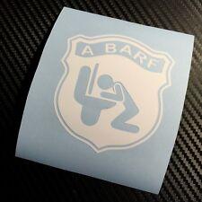 WHITE A BARF Car Sticker Decal Funny Fun Rat Look Fiat Abarth Panda 500