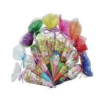 Cone Sweet Candy Bags Plastic Cellophane Wrappers for Wedding Party Decoration