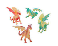 Pack of 6 - Dragon Figures - Fantasy Knight Party Loot Bag Stocking Fillers