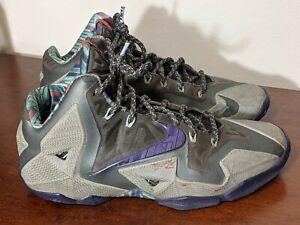 Nike Lebron XI 11 Terracotta Warrior Sneakers 616175-005 Men's Size 8.5 Purple