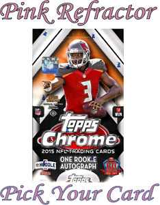 2015 Topps Chrome Foootball Pink Refractor SP /299 Pick Your Card Rookies & Vets