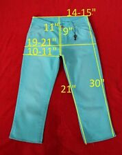 newTHOMAS BURBERRY sz 27 pants capri jeans stretch cotton women