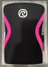 Rehband Rx Knee Support, 7 mm, Black/Pink, 105434 Neoprene Sport Brace (M or L)