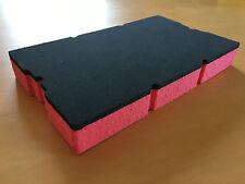 Koffereinlage aus Hart-Schaumstoff f. Sortimo L-BOXX Mini grau-rot 30mm, 5 Stück