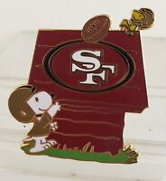 SAN FRANCISCO 49ERS SNOOPY DOGHOUSE w/ Woodstock PIN-GREAT GIFT IDEA! Free Shpg!