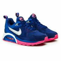 SCARPE SNEAKERS DONNA NIKE ORIGINALE AIR MAX TRAX GS 644470 401 PELLE PE NEW