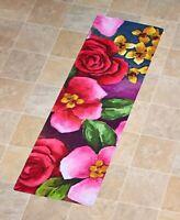 Flower Garden Outdoor Printed Runner Rug Great for Patio Porch Deck - 1-Pc