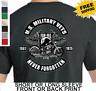 Biker Patriotic POW MIA U.S. Military Veterans Mens Short Or Long Sleeve T-shirt