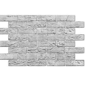 PVC 3D Grey North Stone Urban Industrial Interior Wall Panels Kitchen Cladding