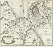 1767 Isaak Tirion Map of Cayenne, French Guiana