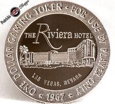$1 FULL PROOF SLOT TOKEN RIVIERA HOTEL CASINO 1967 FM MINT LAS VEGAS NEVADA COIN