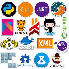72Pcs Developer Programming Sticker Java Js Php Internet Bitcoin Html For Laptop