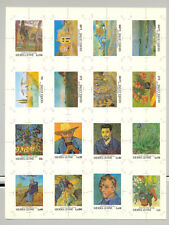 Sierra Leone #1365-1380 Van Gogh, Art 16v Imperf Chromalin Proofs