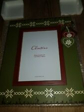 """Clintons Christmas Photo Frame Photo Size 5""""x7"""" Green and Red"""