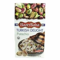 HazerBaba Turkish Delight With Pistachio 100 gr 3.5 oz Gluten Free