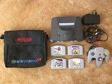 Nintendo 64 Console 4 Game Bundle FIFA! Star Wars! Destruction Derby w/Carry Bag