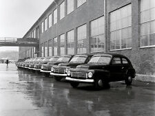 1947 Volvo P444A 10 cars  Parked at factory for Shipping 8 x 10  Photograph