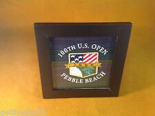 2000 US OPEN - PEBBLE BEACH - EMBROIDERED LOGO SEWOUT - BLACKWATCH TARTAN FABRIC