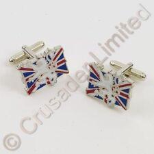 British Union Jack Cuff Links with Rampant Lion  NEW Cufflinks UK 13969