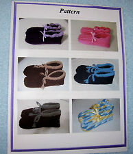 Crochet Slippers Houseshoes PATTERN--Ladies, Mens, & Youth Size
