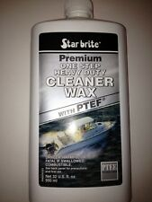 Starbrite Cleaner Wax 32 oz One Step Heavy Duty with PTEF
