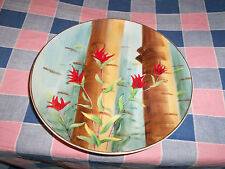 Collector Plate Indian Paint Brush Wyoming Flower  8 Inch Across