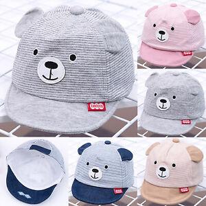 Kid Boy Girl Cartoon Bear Peak Baseball Cap Newborn Toddler Cute Outdoor Sun Hat