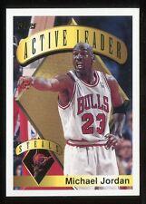 1995-96 Topps Active Steals Leader Michael Jordan #4 CHICAGO BULLS