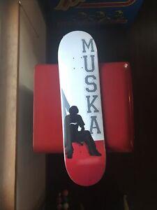 CHAD MUSKA SKATEBOARD SHORTYS DECK RED SILHOUETTE RARE NOSESLIDE MUSKALADE