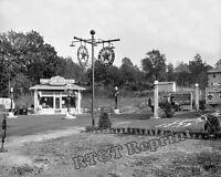 Photograph of a 1925 Texaco Gas Station James Proprietor Washington DC 8x10