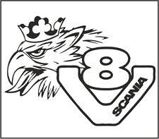 Etiqueta engomada de camión-Scania carrocería Adhesivo con el logotipo de V8