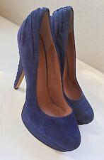 Vince Camuto Blue Suede Platform Stilleto Heels Size 8B