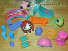 HASBRO LITTLEST PET SHOP LPS THEMED ROLLIN FUN PARK RAMP SKATE COMPLETE SET LOT
