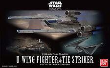 100% Authentic Bandai Star Wars 1/144 U Wing Tie Striker Model Kit Set BAN212184