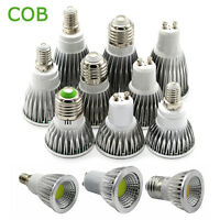MR16 E27 E14 GU10 Spotlight 6W 9W 12W COB Spot Light Bulb Lamp Ultra Bright LED