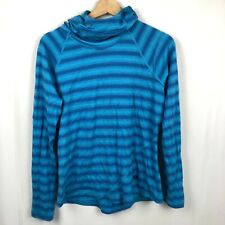 Mountain Hardwear Women's 100% Merino Wool Top Hooded Large Blue